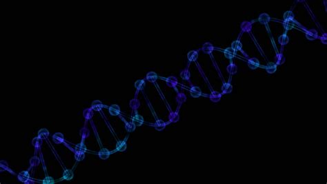 Mba With Biology Background by Dna On A Black Background Stock Footage 971161