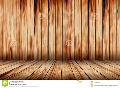 wooden room vector wood room with wooden planks floor stock