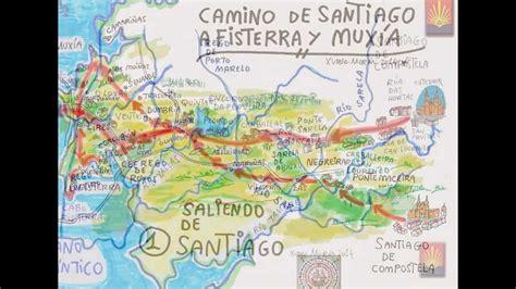 camino finisterre mapas camino de santiago a fisterra y mux 205 a
