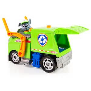 spin master paw patrol rocky lights sounds recycling truck