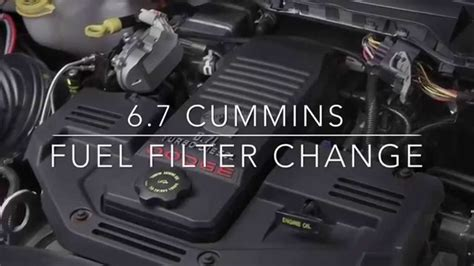 dodge change 6 7 cummins fuel filter change dodge ram 2500 3500