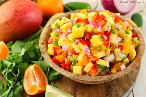 tropical pineapple mango salsa delightful e made