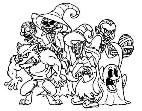 imagenes monstruos halloween dibujo de monstruos de halloween para colorear dibujos net