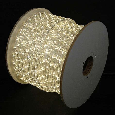 150 led warm white rope light spool 1 2 inch 120 volt