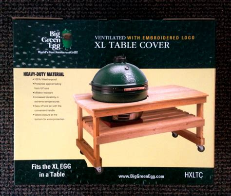 xl big green egg table covers country stove patio and spa
