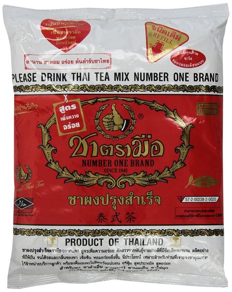 Milk Thai Tea Original Teh Thailand Asli Thaitea pantai norasingh thai tea mix net wt 16 oz grocery gourmet food