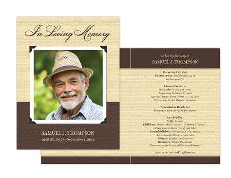 free printable memorial card template funeral card template beneficialholdings info