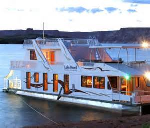 Houseboat on lake powell in arizona is a vacation site far from the