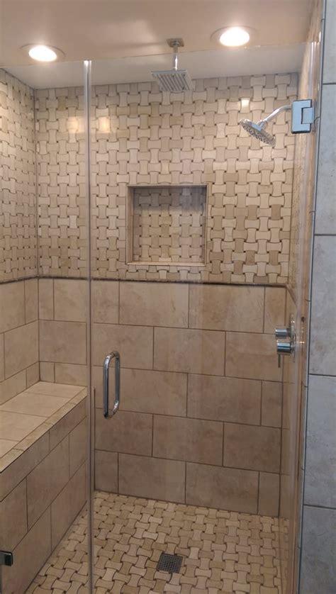 Bathroom Remodel Cost Master Bathroom Shower Remodel With A Rain Shower Head