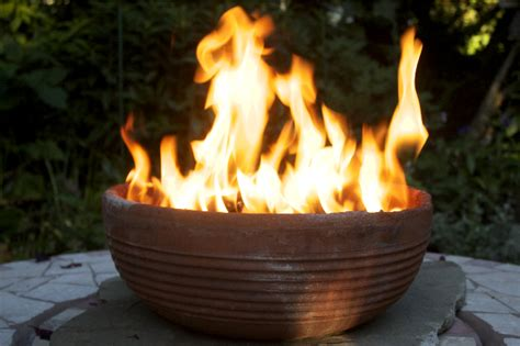 clay pot pit for smaller fires during things to create