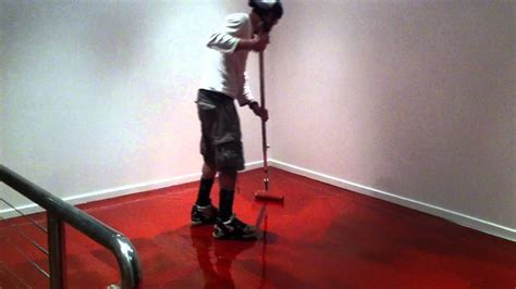 Red Concrete Floor Coating   YouTube