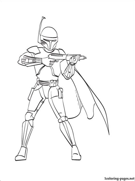 star wars boba fett coloring page coloring pages