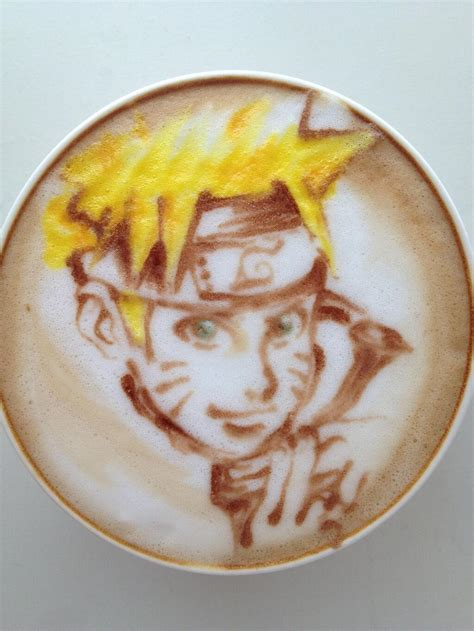 japanese latte artist puts anime characters  coffee