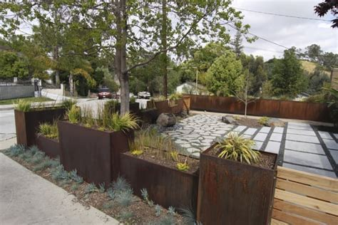 Custom Metal Planters by Highland Park With Custom Metal Planters And