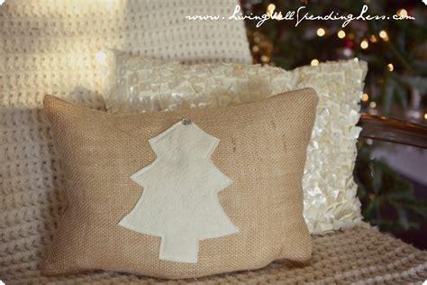 30 minute burlap pillow living well spending less 174
