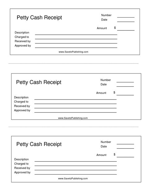 petty receipt template best photos of printable petty receipts free