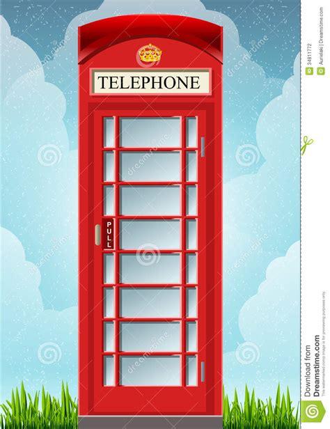 cabina telefono inglese cabina rossa inglese telefono fotografia stock