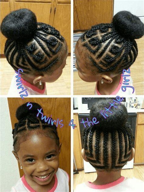 cornrow braided bun hairstyles for black women braid styles for little black girls hairstylegalleries com