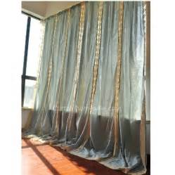 Big Window Curtains Eco Friendly Big Window Cotton Burlap Curtains Of Mediterranean Style