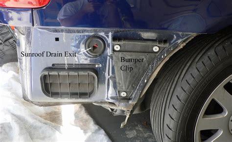 leaking boat fenders water leaking down edge of rear seat sunroof