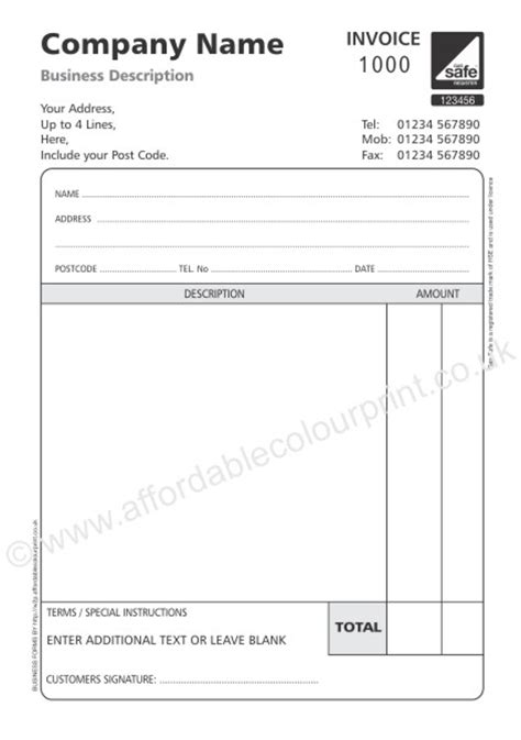 template of vat invoice non vat invoice template printable invoice template