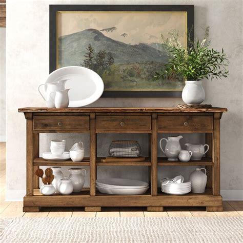neibert  wide  drawer solid wood buffet table