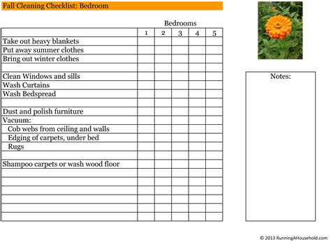 Household Checklist for November   Running A Household