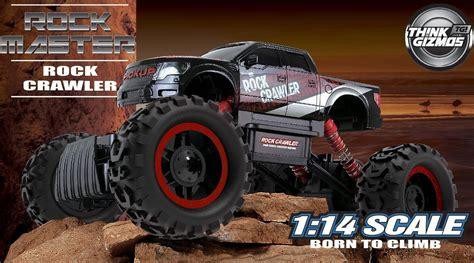 rock master rock crawler 4x4 rc car 1 14 scale with 2 4 ghz remote controller