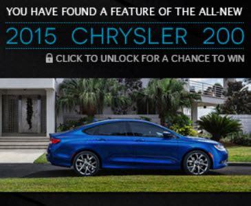 Chrysler 200 Sweepstakes - chrysler unlock the 200 sweepstakes 4 4 14 1ppwfb18