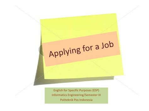 in applying for a position applying for a