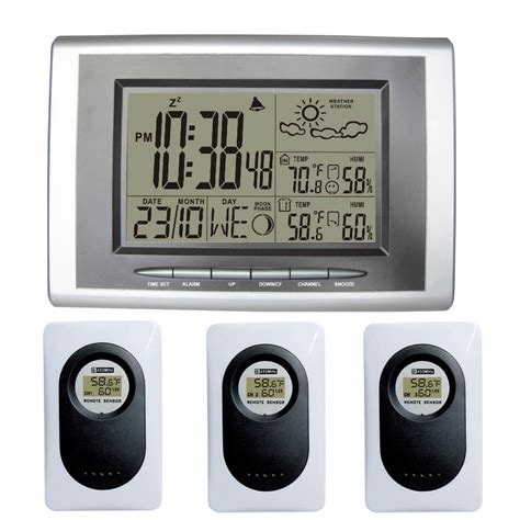 433mhz rf wireless weather station weather forecast clock