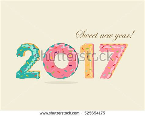 happy new year interesting design patterned numbers 2016 happy new year stock vector