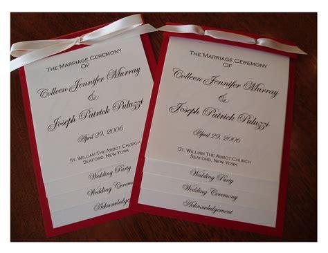 layered wedding program template wedding collection nowadays wedding programs exles