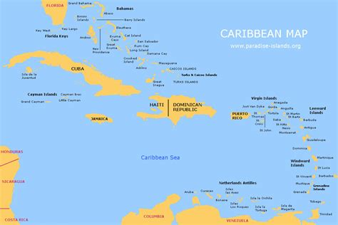 islands map caribbean map free map of the caribbean islands