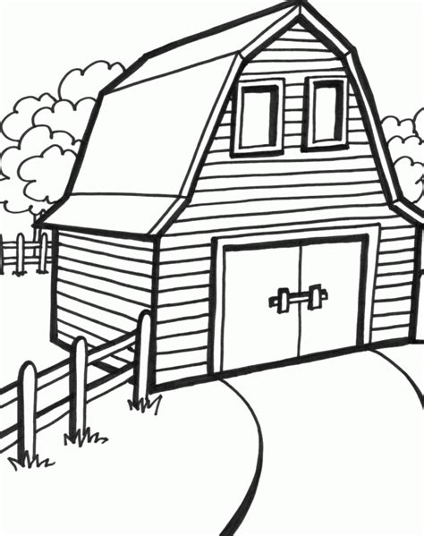 barn house coloring page barn coloring page coloring home