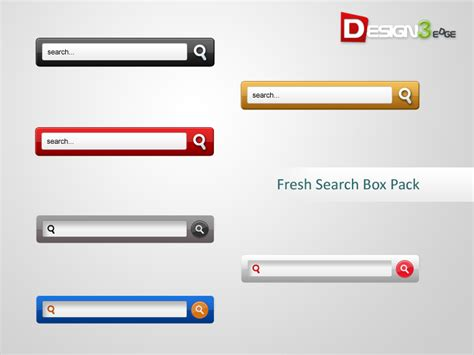 Html Design Search Box | fresh search box pack design3edge com