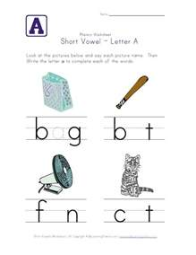short vowels worksheets for kindergarten images