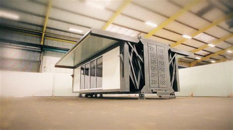 ten fold engineering s movable home unfolds at the push of