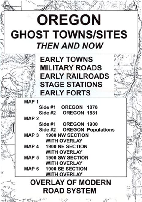 map of oregon ghost towns ghost town maps of the west