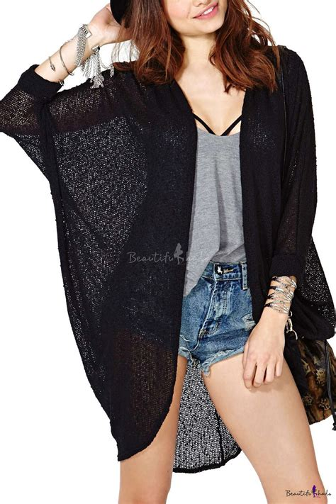 Plain Batwing Cardigan plain open front cardigan with batwing sleeve