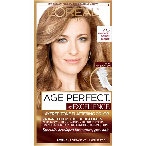 7g hair color l oreal excellenceage layered