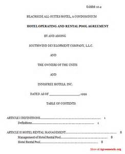 hotel contract template wedding photography contract template word