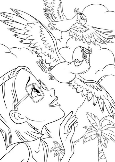 rio coloring pages games 73 free rio movie coloring pages blu and jewel visiting