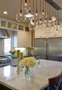 lighting above kitchen island fresh flower decorations to complement your home style