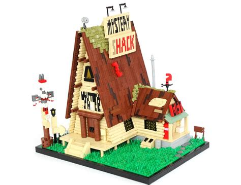 wood lego house tiles or studs the mystery shack in lego form
