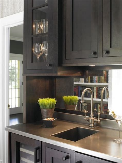 wet bar sink transitional kitchen christine donner