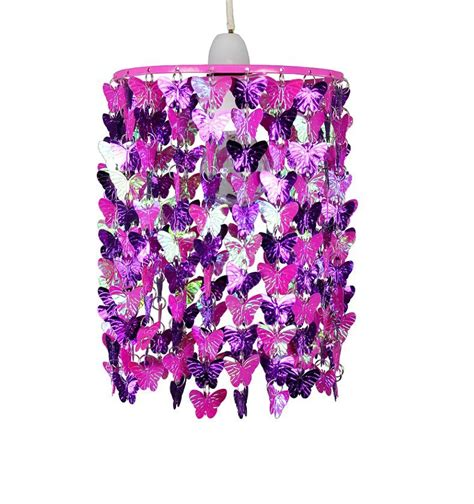 Butterfly Ceiling Light Modern Pink Purple Butterflies Ceiling Light Pendant Lshade New Ebay