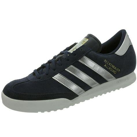 adidas beckenbauer mens sneakers blue silver retro casual
