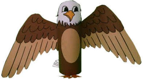 How To Make A Eagle Out Of Paper - bald eagle toilet paper roll craft
