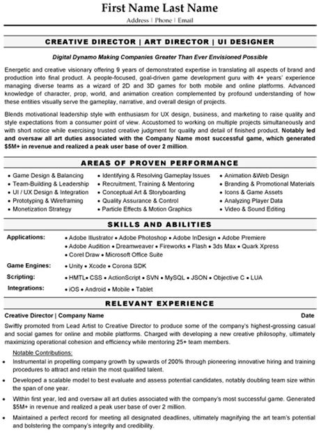 Resume Templates For Creative Directors Top Graphic Designer Resume Templates Sles